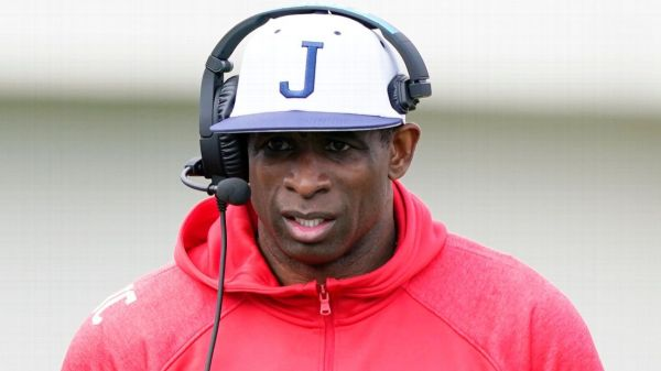 Jackson State Tigers coach Deion Sanders walks out of media day event after being called by his first name two times