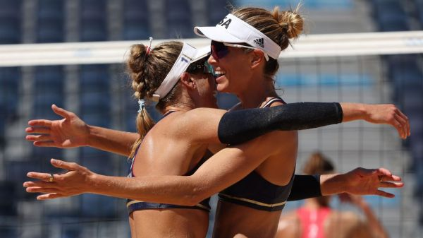 American 'A Team' advances to gold medal match in Olympic beach volleyball tournament