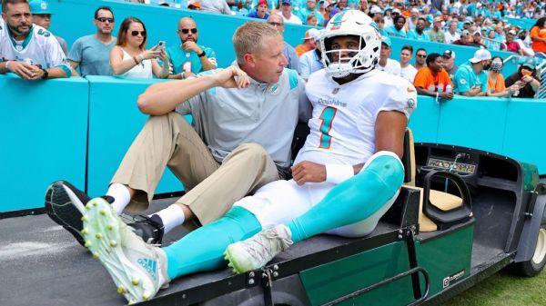 Source -- Miami Dolphins QB Tua Tagovailoa avoids serious rib injury
