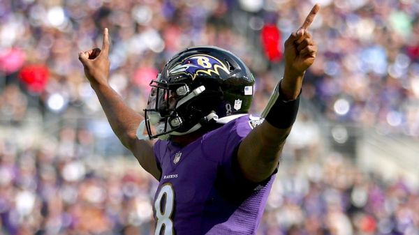 Baltimore Ravens' Lamar Jackson sets NFL record for most wins (35) under the age of 25
