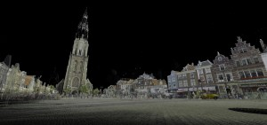 3D-scan of Delft market square