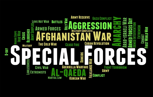 Warfare Wordmap Special Forces