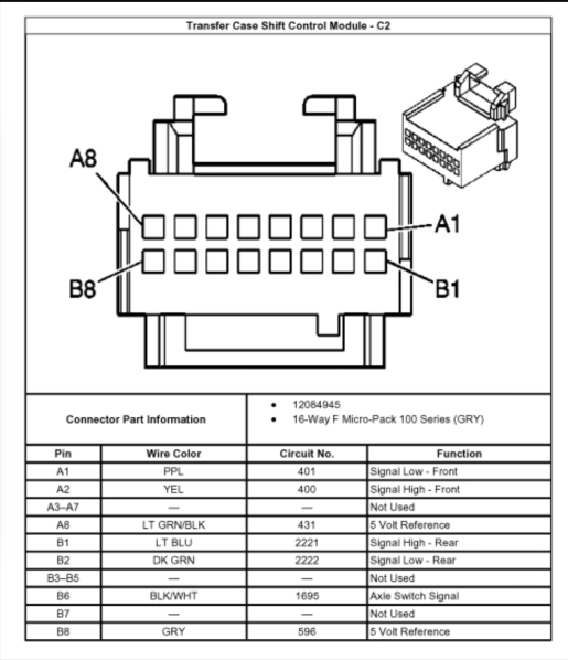 2005 chevy 2500 transfer case wiring diagram 2006 chevy