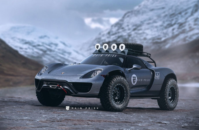Custom made Porsche 918 Spyder is het ultieme off road monster!