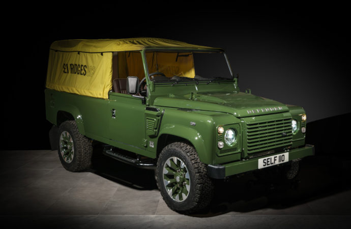 One-off Land Rover Defender middelpunt in Londen