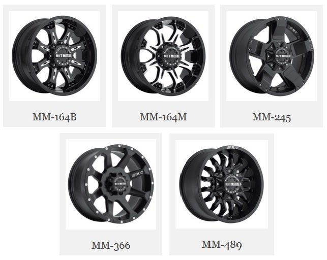 Mickey Thompson Metal Series Wheels : 164B, 164M, 245, 366, 489