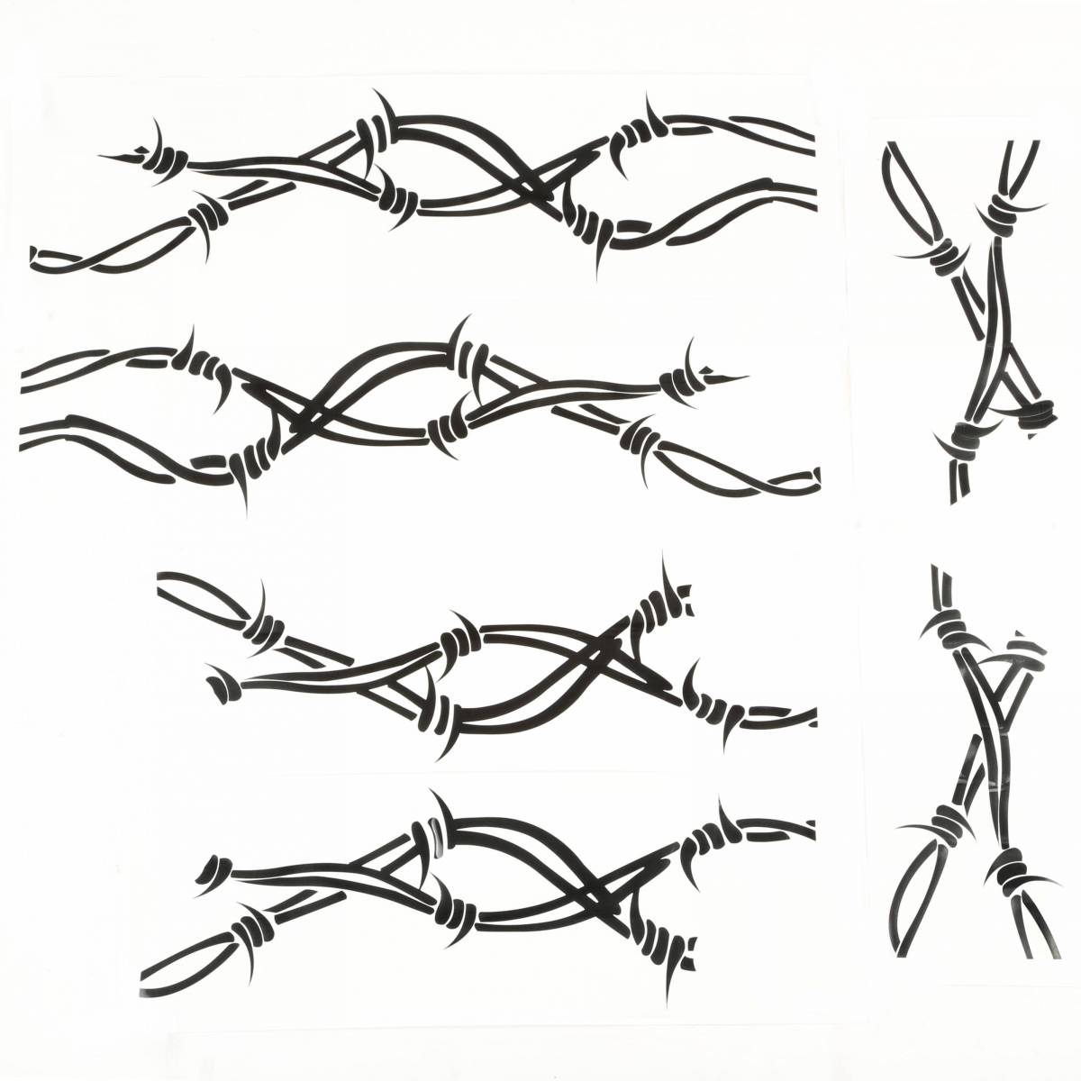 Rugged Ridge 32 Side Decals Pair Barbed Wire 07