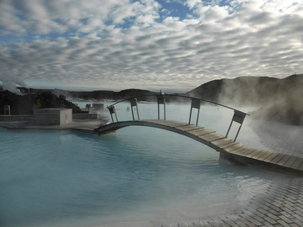 Bridge over Iceland's Blue Lagoon