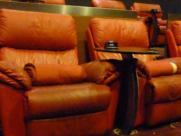 Gold Class movie seats provide a blanket for snuggling with your sweetie