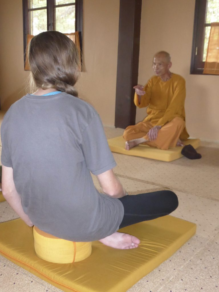 Meditation with monk at Truc Lam