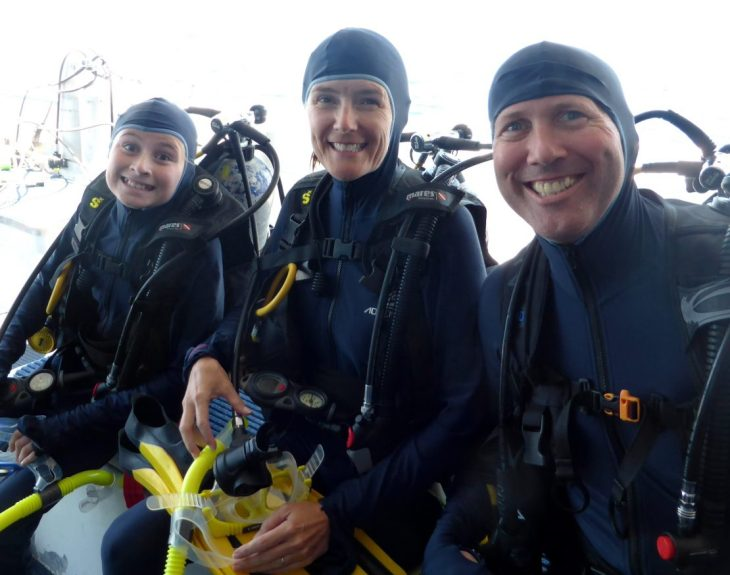 Scuba divers on the Great Barrier Reef