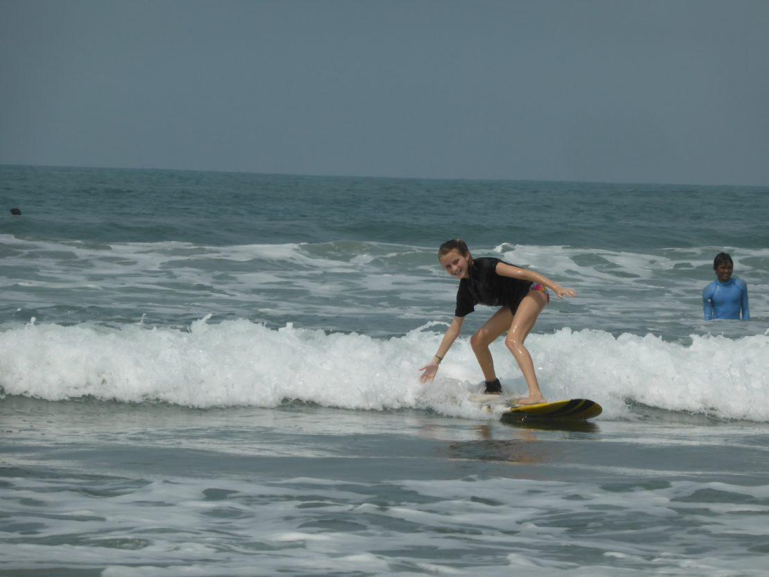 Trash Surfing in Seminyak, Bali