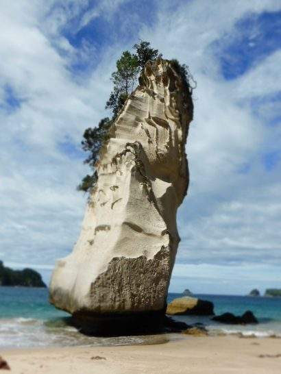 Cathedral Cave beach, New Zealand