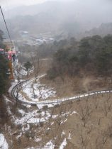 Take a chair lift to the top; ride the luge down.