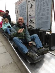 The luge to the bottom is fun but COLD!