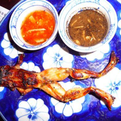 Frog entree in Siem Reap