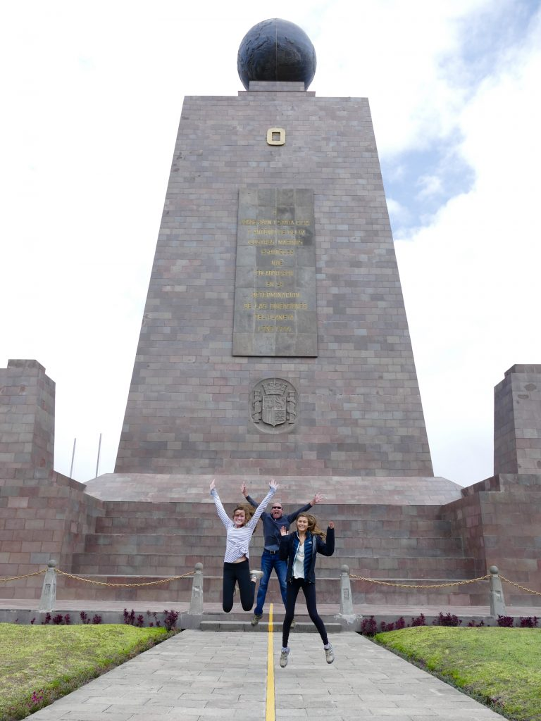 Jumping for joy at the equator