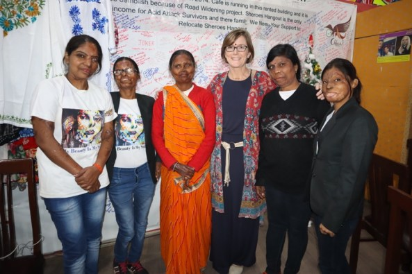 From left to right: Bala, Roopa, Geeta, Kellie, Madhu, and Neetu