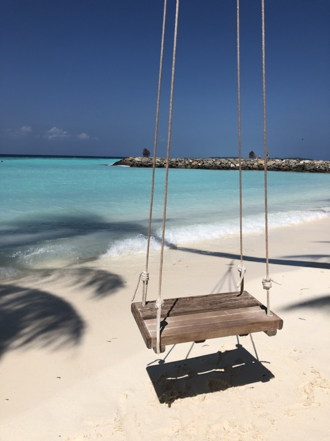 Beach swing on Bikini Beach on Maafushi