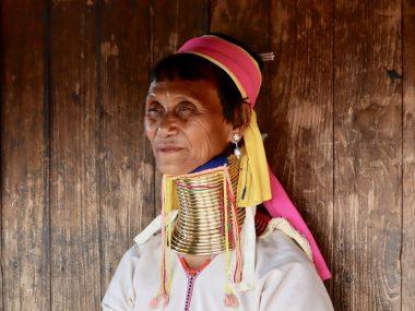 long neck woman from Myanmar