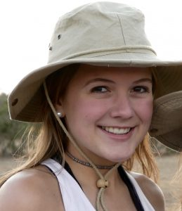 Delaney on safari in South Africa