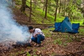 Наш камп код Пајкиног извора