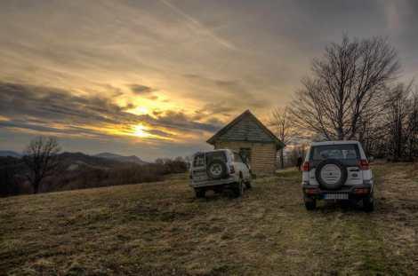 Sunset on the main ridge