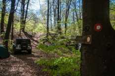 Marking for hikers are there, but it's a dead end for vehicles