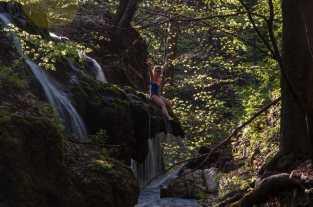 Or climbing on the waterfall?