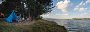 Camping on the Vlasina lake
