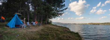 Camping on the Vlasina lake