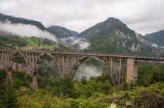 Đurđevića Tara - bridge over the canyon