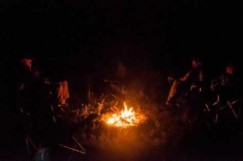 First evening by the campfire