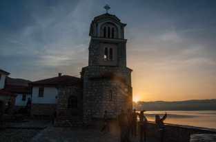 Sunset over Ohrid lake