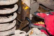 Ups! A torn brake hose