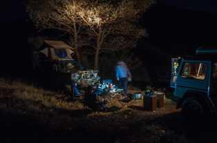 Camping atmosphere