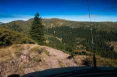 A steep, rocky descent