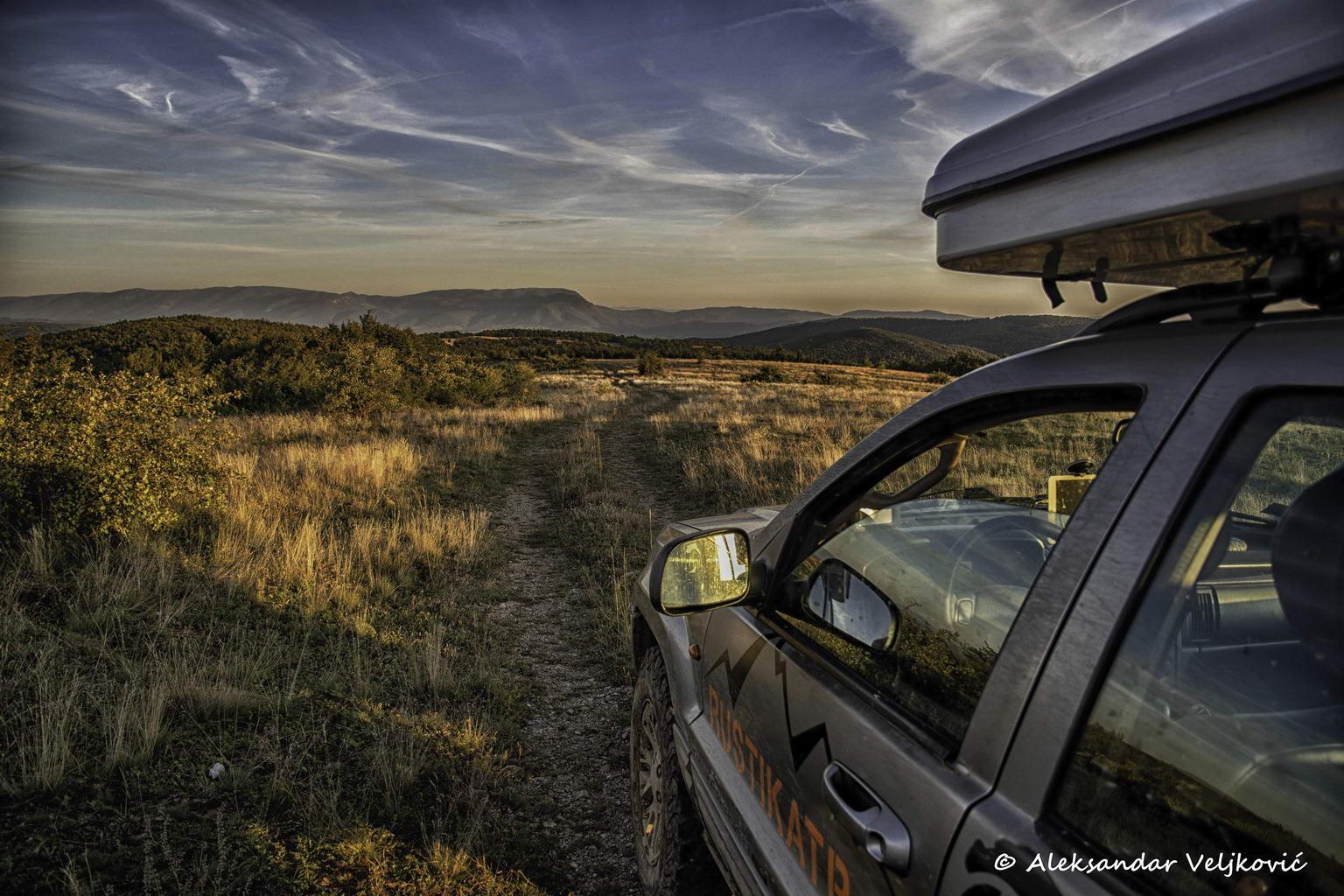 Driving along the western ridge of Rtanj - Ozren in sight
