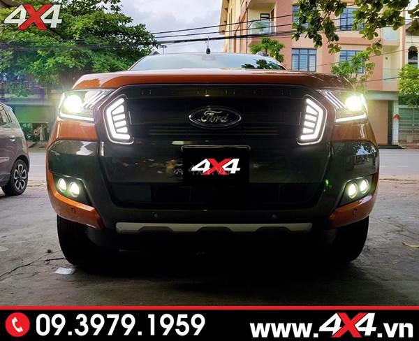 Độ đèn Ford Ranger: Xe bán tải Ford Ranger tăng sáng tốt với bộ đèn tăng sáng bi Xenon Philips