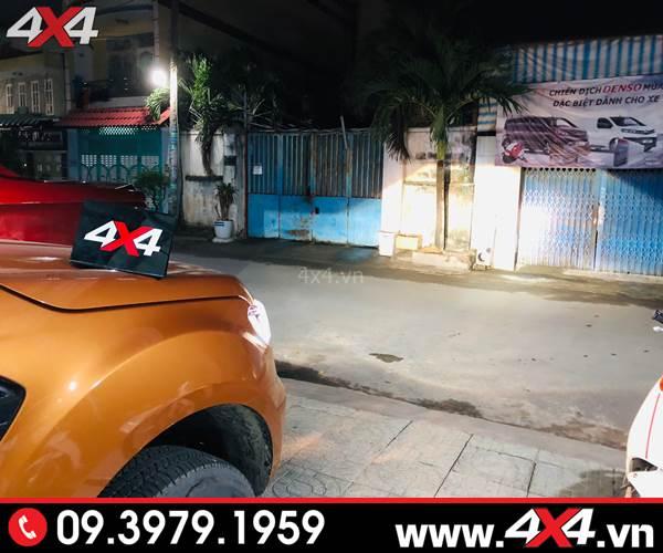 Độ đèn Ford Ranger: Tăng sáng cực tốt cho Ford Ranger với bóng Xenon philips tại 4x4