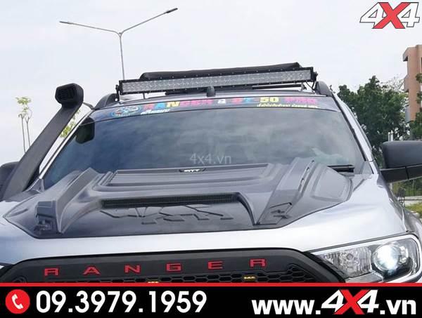 Độ đèn Ford Ranger: Đèn led bar 10D độ đẹp và tăng sáng cho xe Ford Ranger