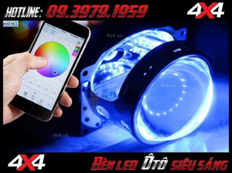 Đèn mắt quỷ đổi màu bằng app điện thoại cực đẳng cấp cho xe ô tô xe bán tải