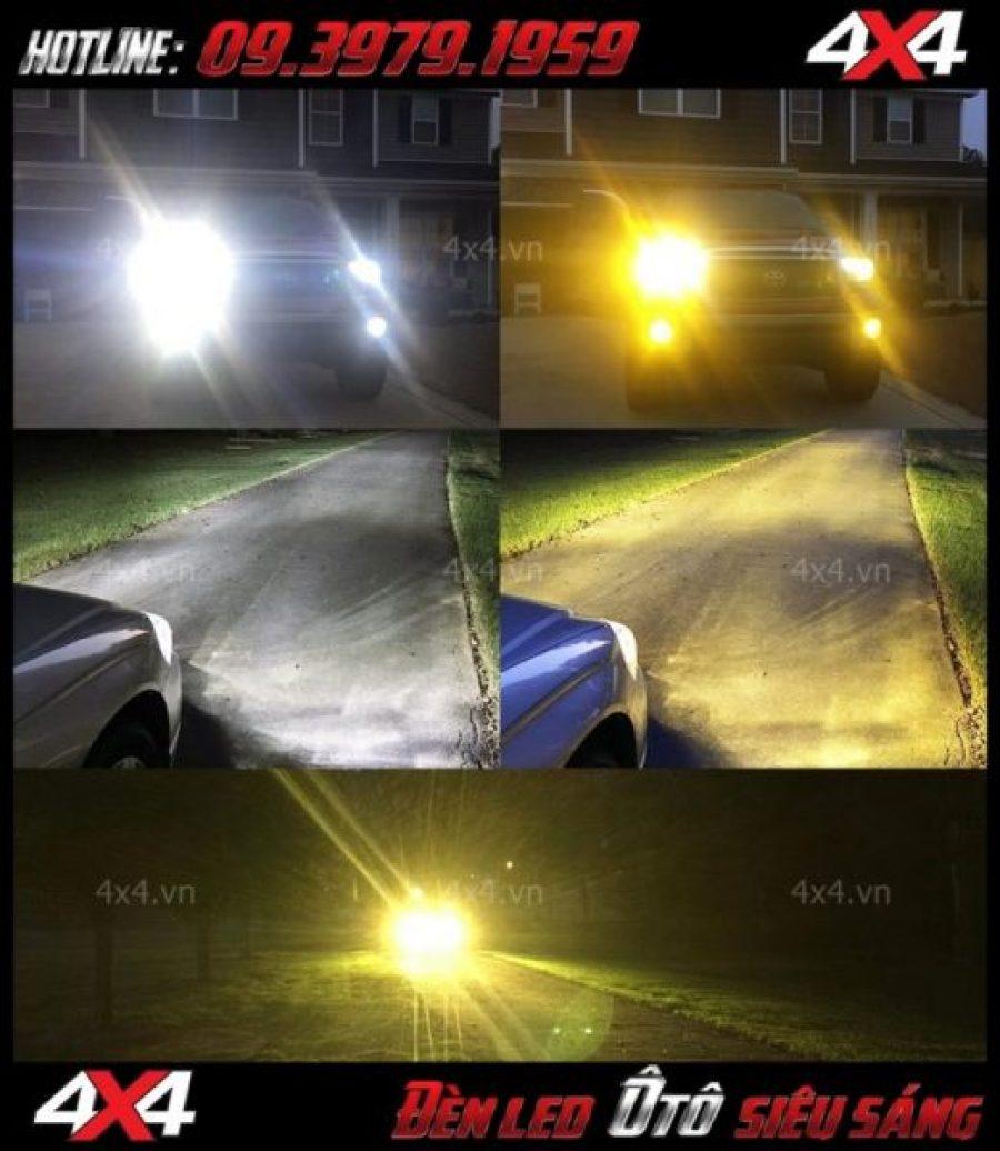 Hình ảnh bóng led siêu sáng (h4, h7, osram, philips,...) gắn cho xe ô tô, xe bán tải