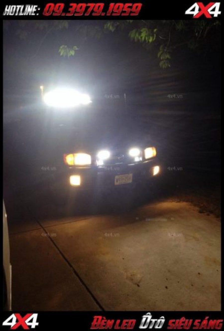 Hình ảnh Đèn led bar xe 4 bánh là mẫu đèn độ nên gắn cho ô tô xe bán tải tại TpHCM