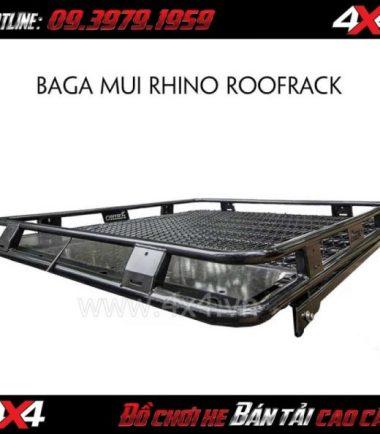 Ba ga mui RHINO ROOF RACK độ chất lượng và đẹp cho xe Ford Ranger