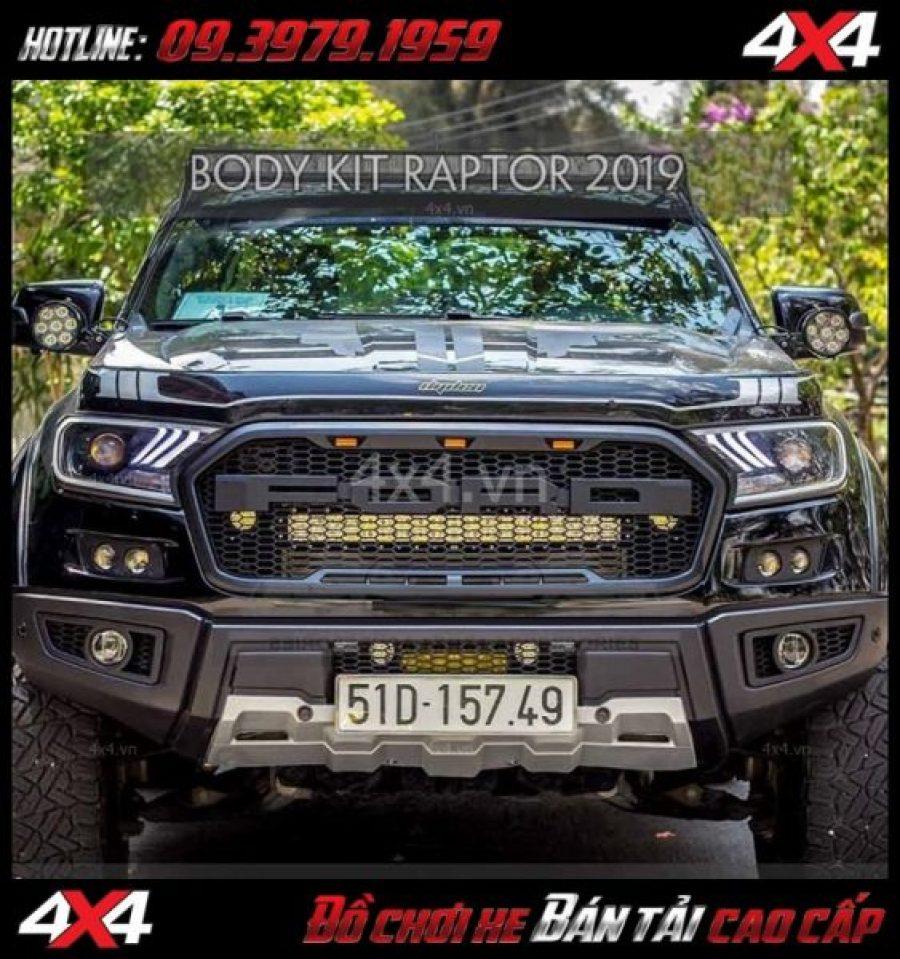 Image: Bán bộ bodykit cản trước Ranger Raptor 2019 cho xe Ford Ranger 2018