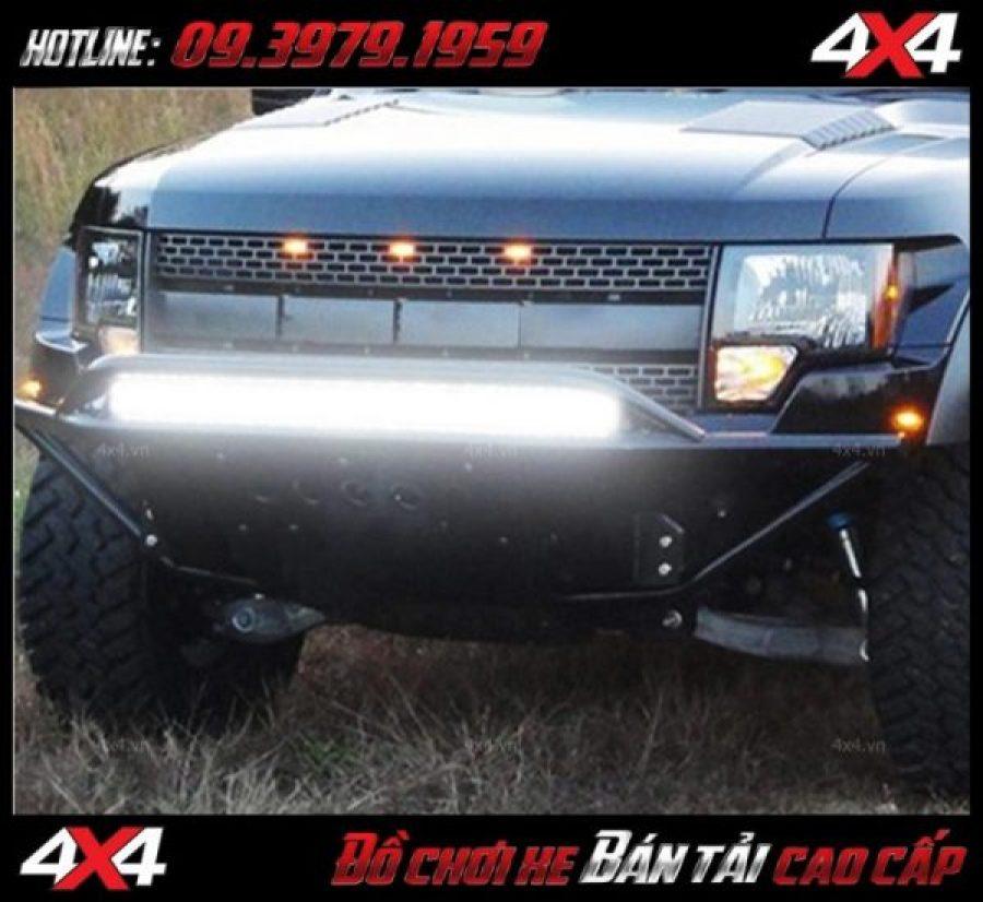 Đèn led bar cho xe offroad: Đèn led bar 12D tăng sáng cho Ford Ranger và trang trí cực đẹp
