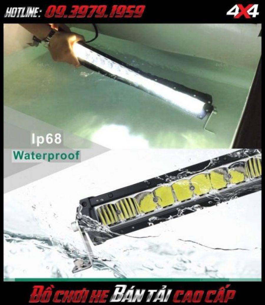 Hình ảnh đèn led bar ô tô, đèn led bar xe bán tải: Đèn led bar lúp vòm chống vào nước chuẩn Ip68