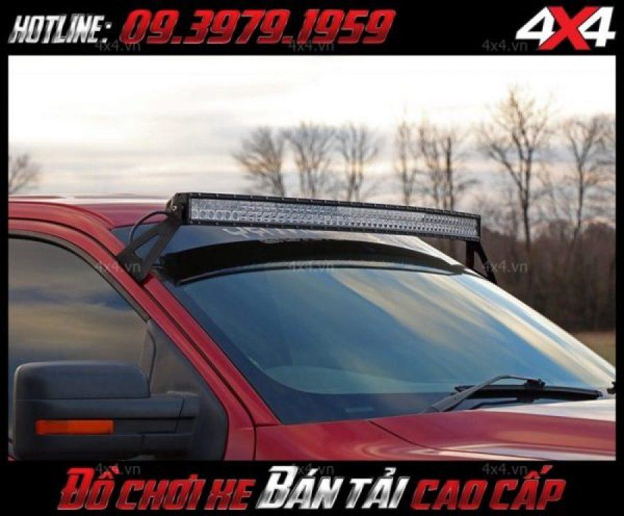 Hình ảnh đèn led bar 2 hàng led độ đẹp và đẳng cấp cho xe bán tải Ford Ranger, Chevrolet Colorado