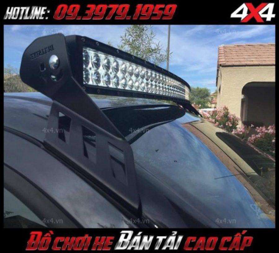 Đèn nóc xe bán tải độ đẹp và đèn led bar 2 hàng led